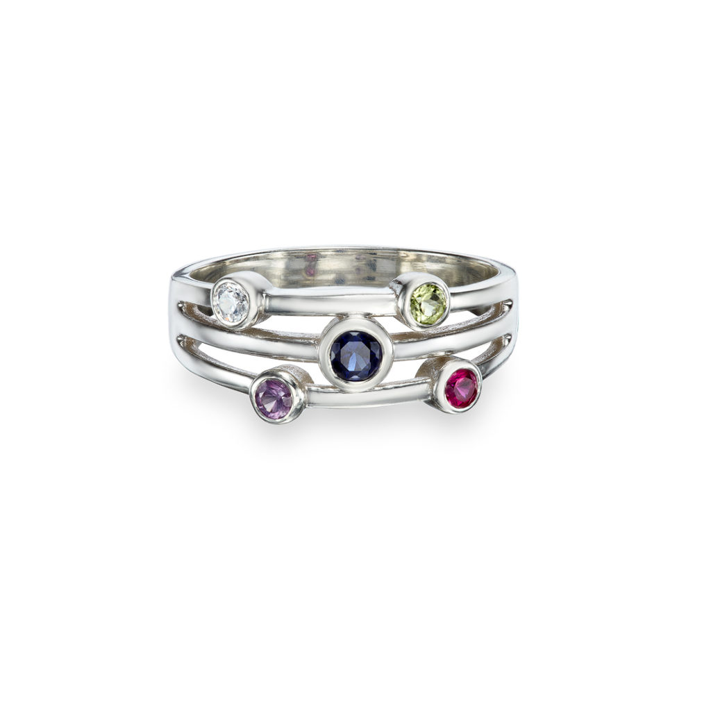 Silver Cosmic Family Ring