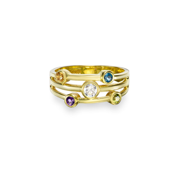 Gold Cosmic Family Ring